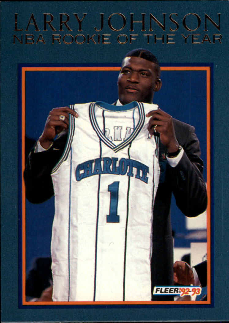 1992-93 Fleer Larry Johnson #1AU Larry Johnson AU