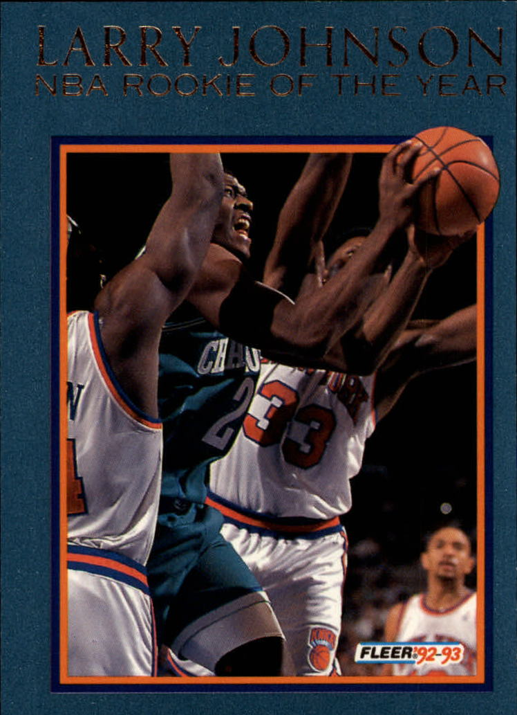 1992-93 Fleer Larry Johnson #2AU Larry Johnson AU