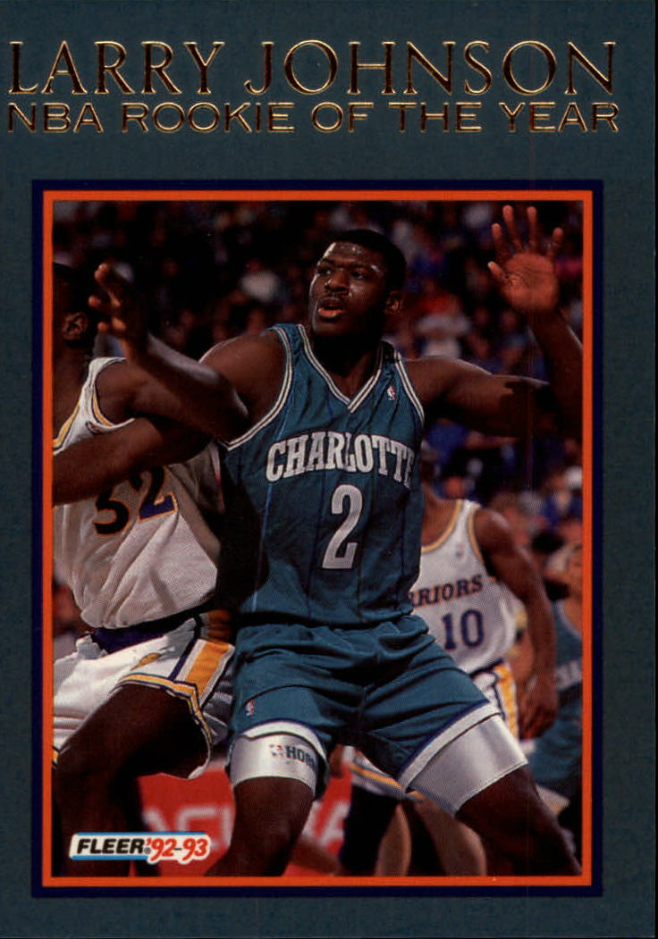 1992-93 Fleer Larry Johnson #7AU Larry Johnson AU