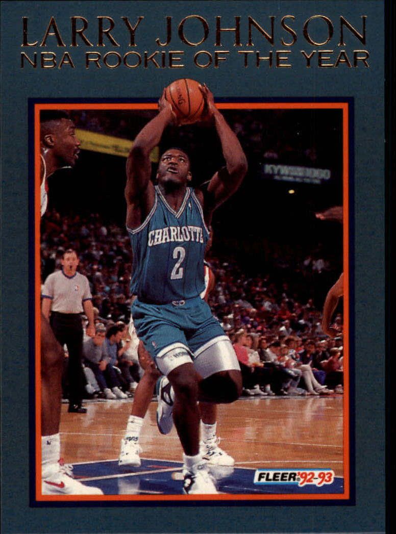 1992-93 Fleer Larry Johnson #8AU Larry Johnson AU
