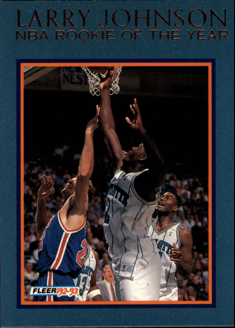 1992-93 Fleer Larry Johnson #9AU Larry Johnson AU