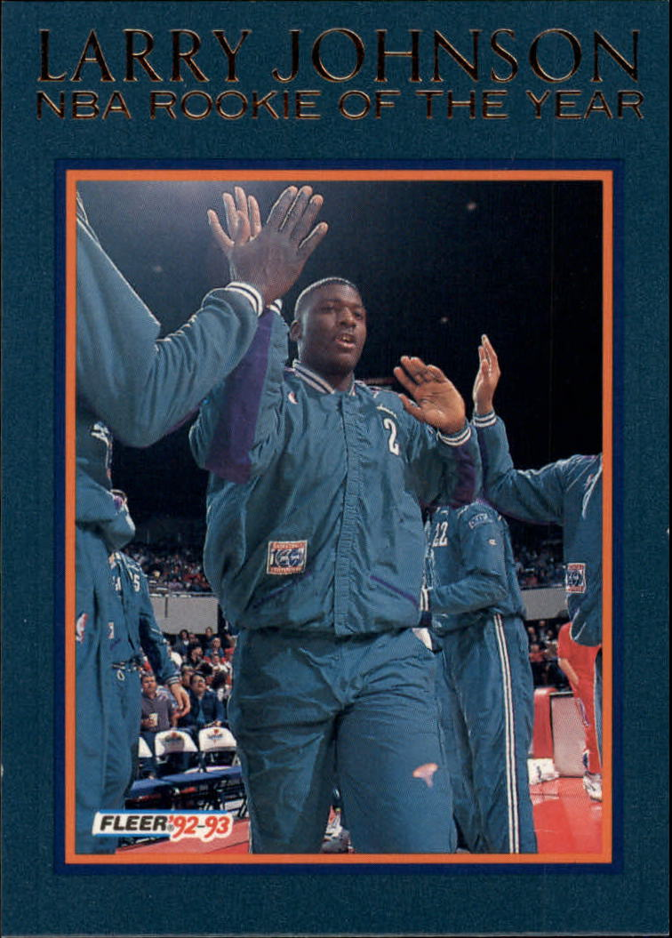 1992-93 Fleer Larry Johnson #11AU Larry Johnson AU
