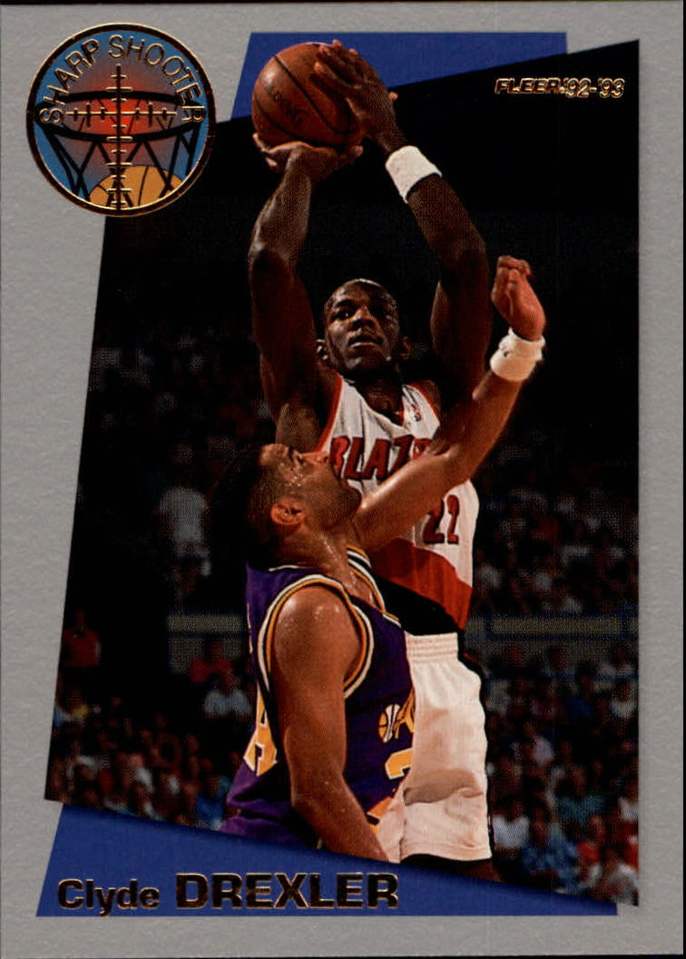 1992-93 Fleer Sharpshooters #13 Clyde Drexler