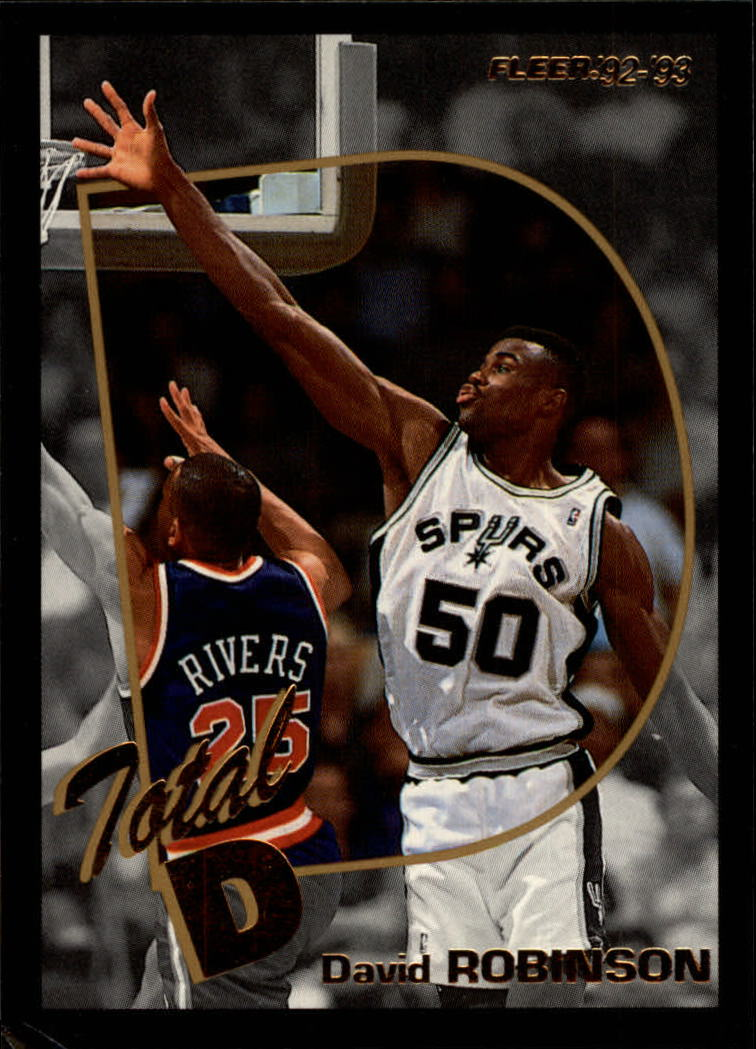 1992-93 Fleer Total D #1 David Robinson