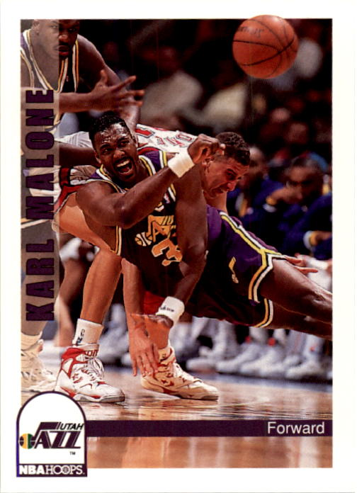 1992-93 Hoops #227 Karl Malone