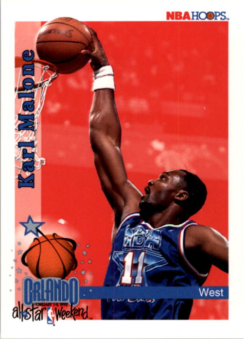 1992-93 Hoops #311 Karl Malone AS