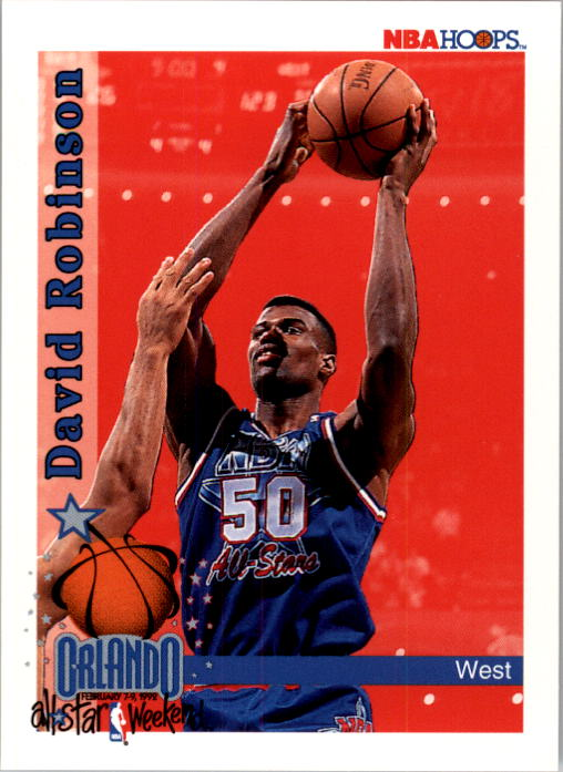 1992-93 Hoops #315 David Robinson AS