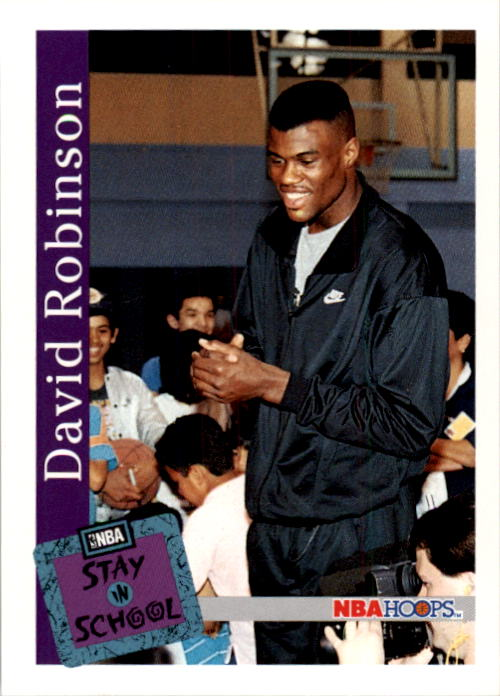 1992-93 Hoops #334 David Robinson STAY