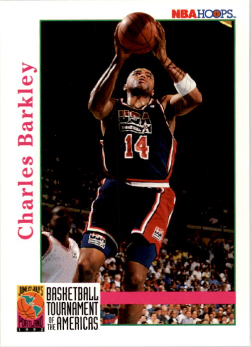 1992-93 Hoops #336 Charles Barkley USA