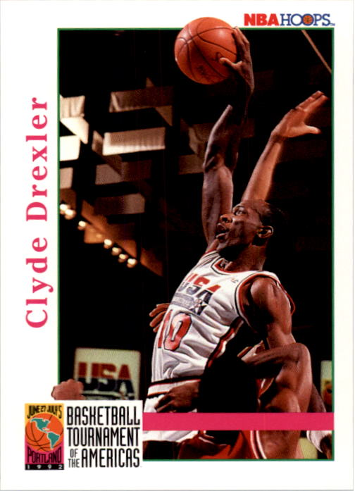 1992-93 Hoops #338 Clyde Drexler USA
