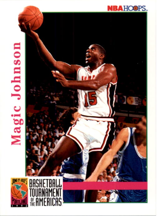 1992-93 Hoops #340 Magic Johnson USA