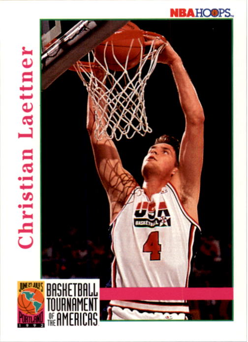 1992-93 Hoops #342 Christian Laettner USA RC