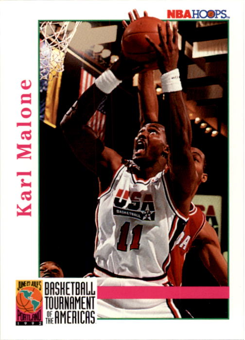 1992-93 Hoops #343 Karl Malone USA