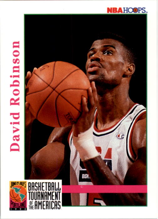 1992-93 Hoops #346 David Robinson USA