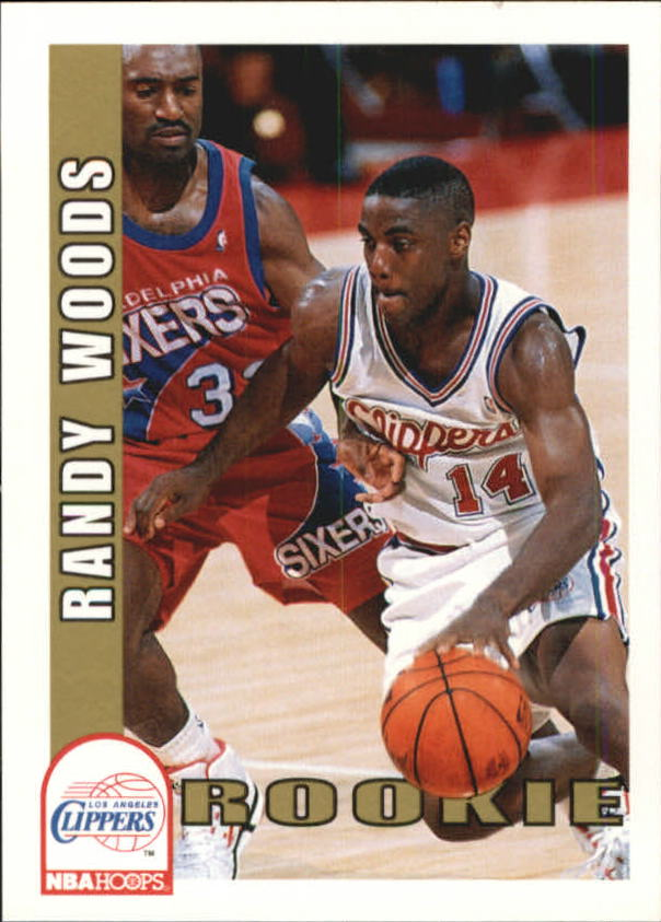 1992-93 Hoops #407 Randy Woods RC