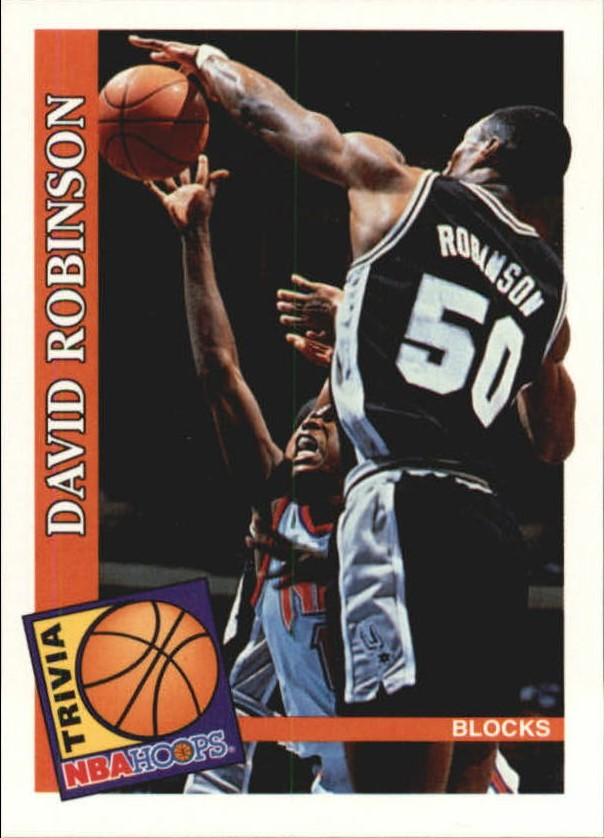 1992-93 Hoops #481 David Robinson TRV