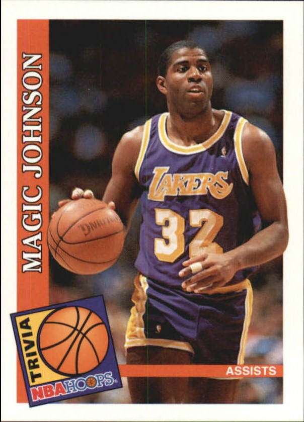 1992-93 Hoops #482 Magic Johnson TRV