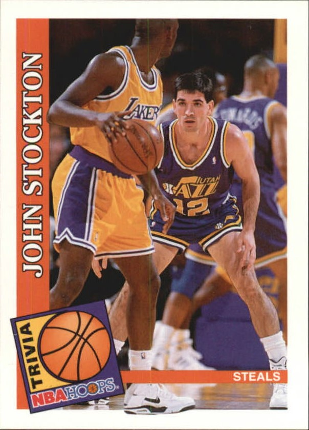 1992-93 Hoops #483 John Stockton TRV
