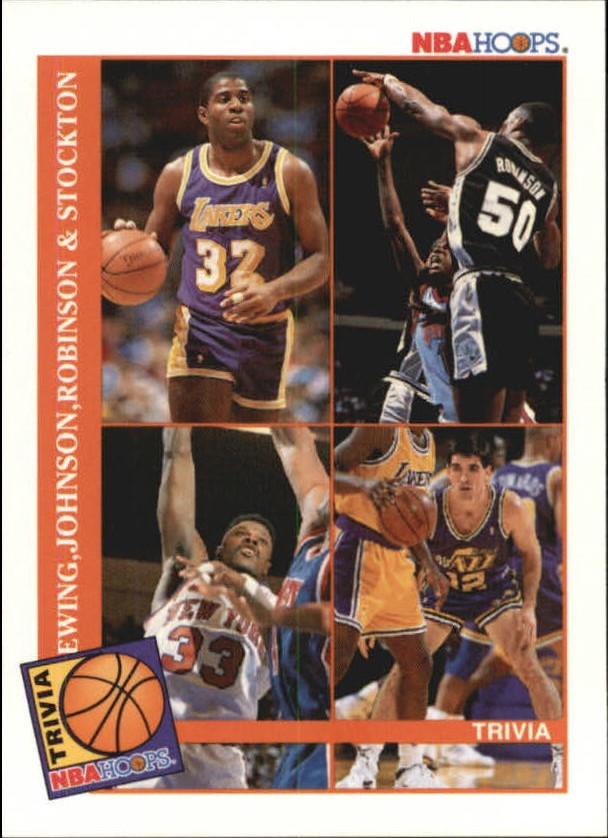 1992-93 Hoops #485 D.Rob/Ew/Stock/Mag TRV