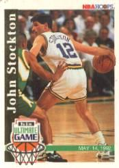 1992-93 Hoops #SU1 John Stockton Game/His Ultimate Game