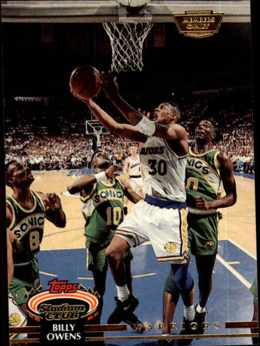 1992-93 Stadium Club Members Only Parallel #236 Billy Owens