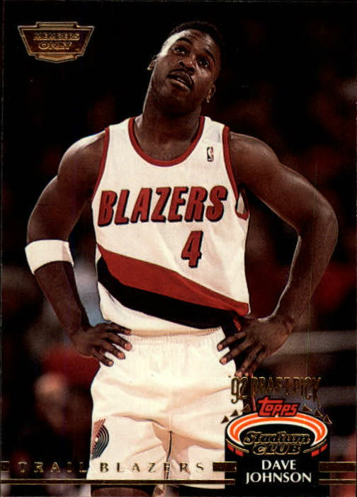 1992-93 Stadium Club Members Only Parallel #300 Dave Johnson