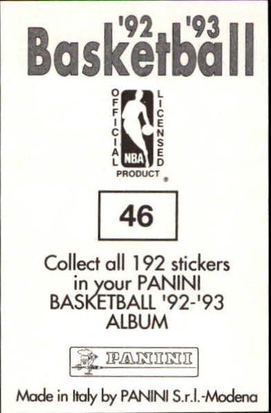 1992-93 Panini Stickers #46 Clyde Drexler back image