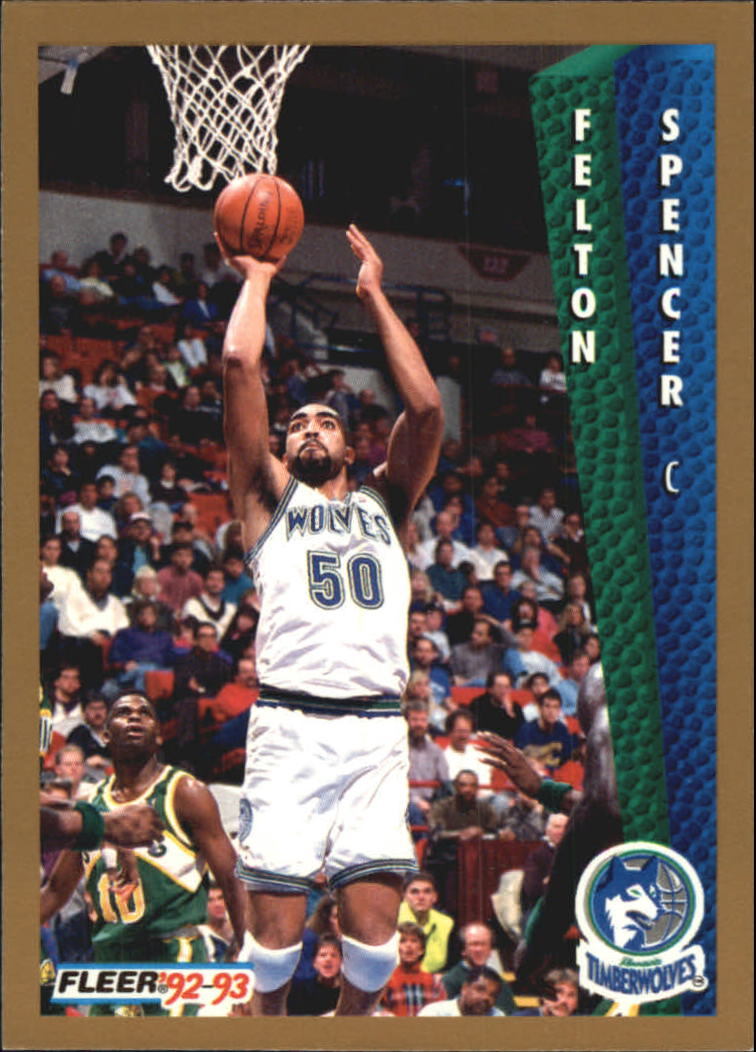 1992-93 Fleer Tony's Pizza #93 Felton Spencer