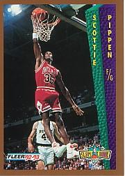 1992-93 Fleer Tony's Pizza #99 Scottie Pippen SD