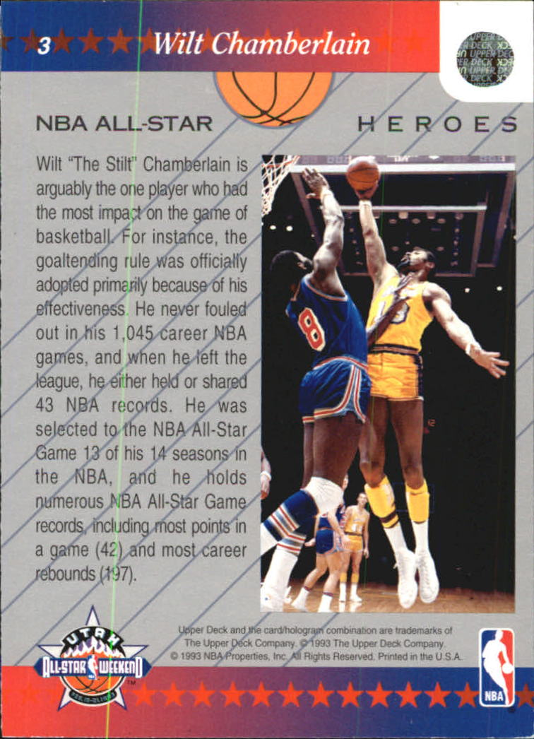 1992-93 Upper Deck All-Star Weekend #3 Wilt Chamberlain