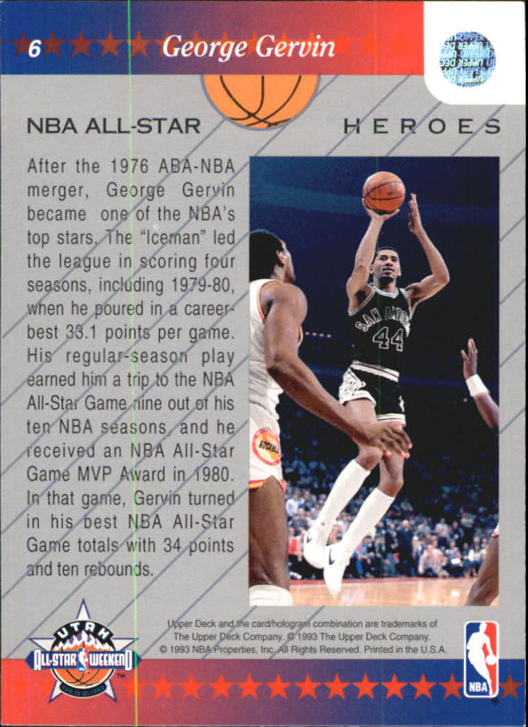 1992-93 Upper Deck All-Star Weekend #6 George Gervin back image
