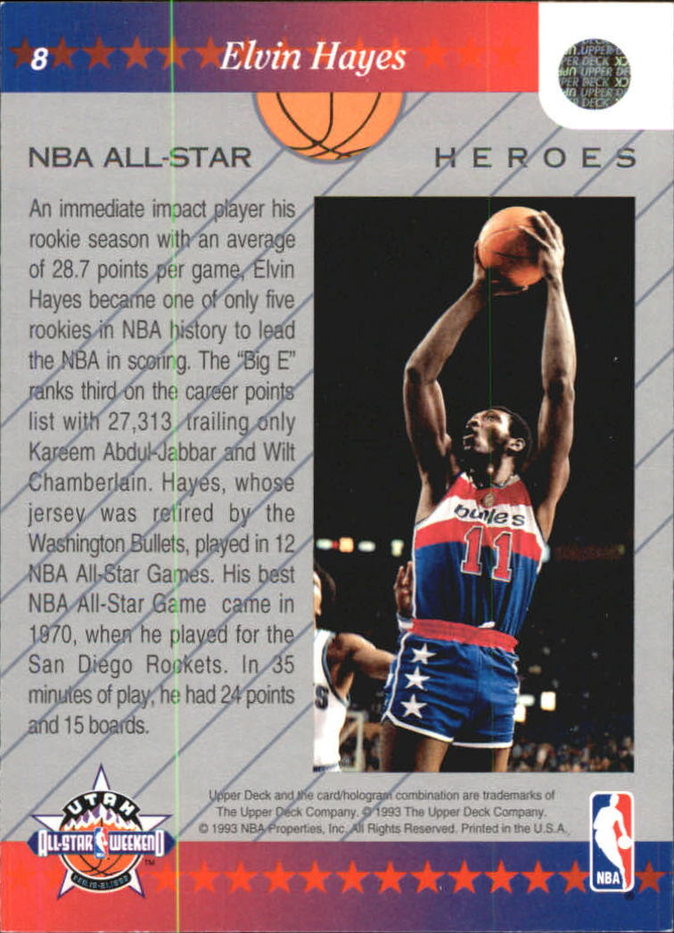 1992-93 Upper Deck All-Star Weekend #8 Elvin Hayes back image