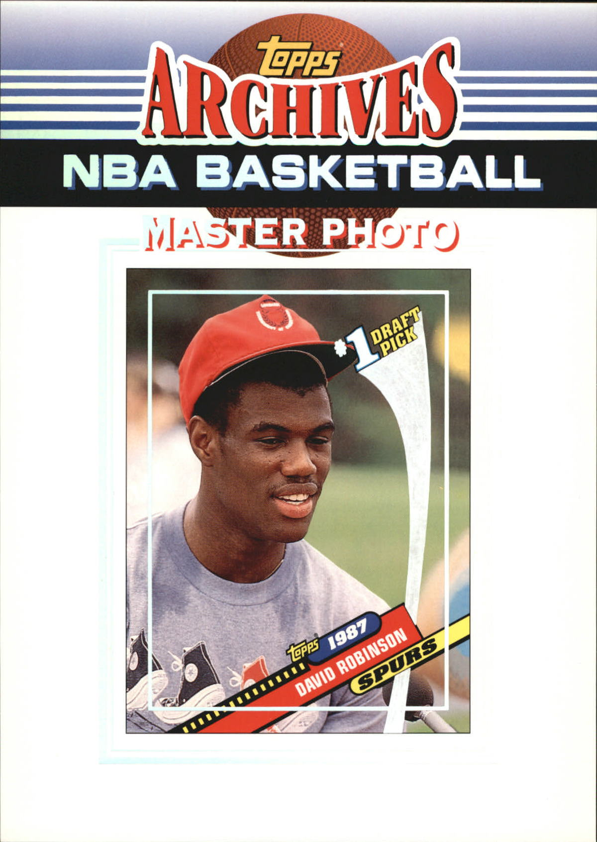 1992-93 Topps Archives Master Photos #1987 David Robinson