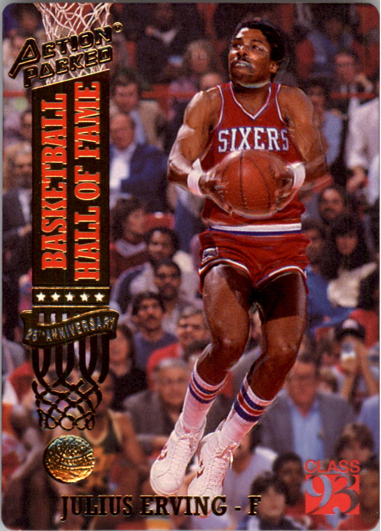 1993 Action Packed Hall of Fame #67 Julius Erving