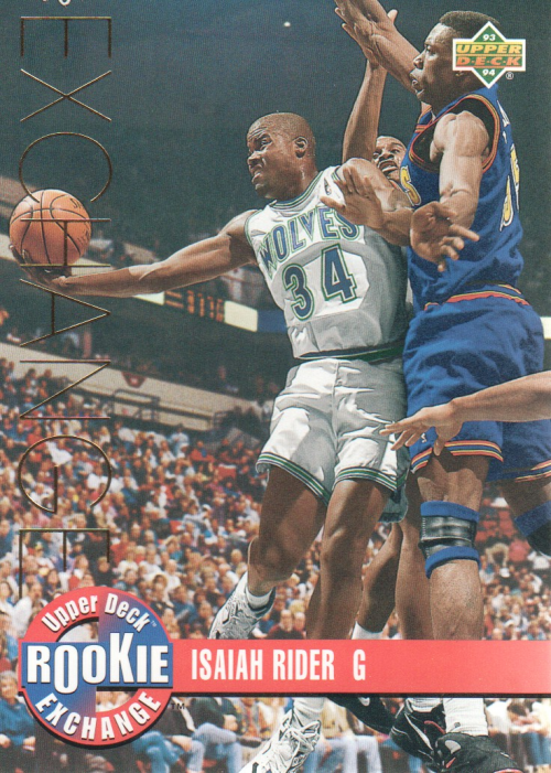 1993-94 Upper Deck Rookie Exchange Gold #RE5 Isaiah Rider