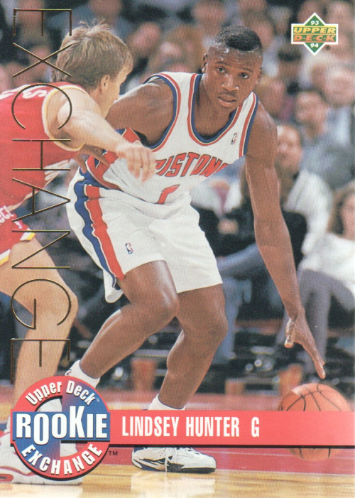 1993-94 Upper Deck Rookie Exchange Gold #RE10 Lindsey Hunter