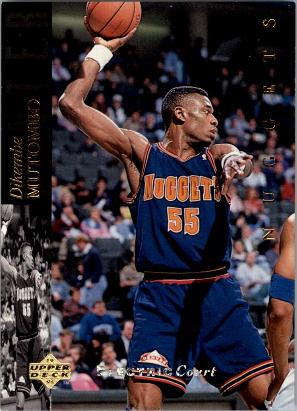 1993-94 Upper Deck SE Electric Court #150 Dikembe Mutombo