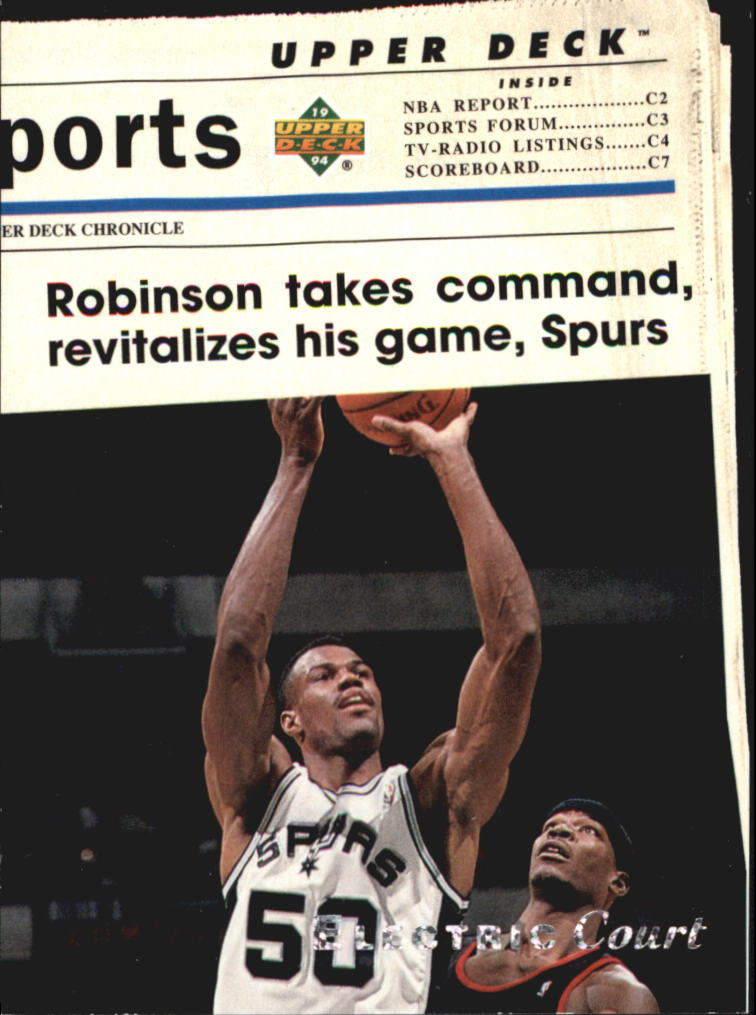 1993-94 Upper Deck SE Electric Court #222 David Robinson TH