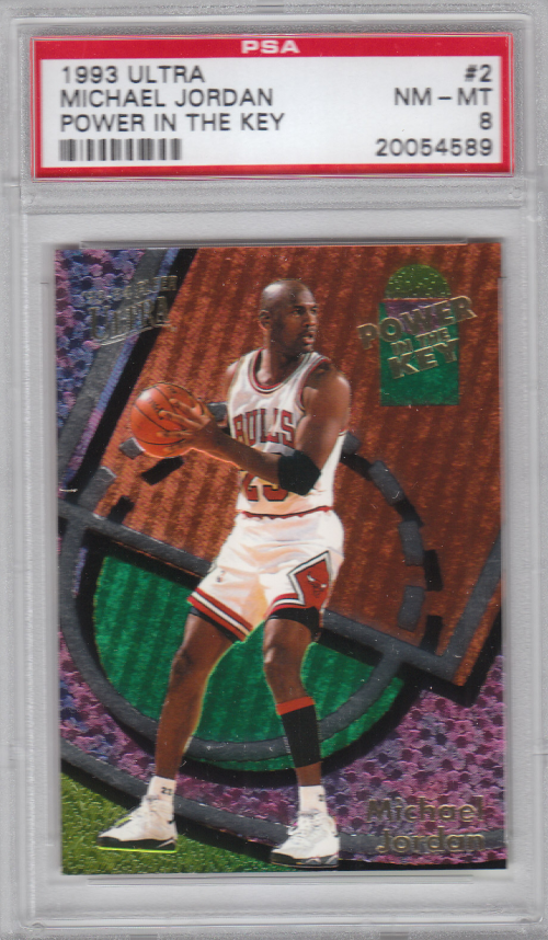 1993-94 Ultra Power In The Key #2 Michael Jordan