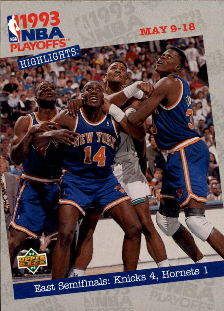 1993-94 Upper Deck #186 Anthony Mason/Patrick Ewing/Alonzo Mourning PO