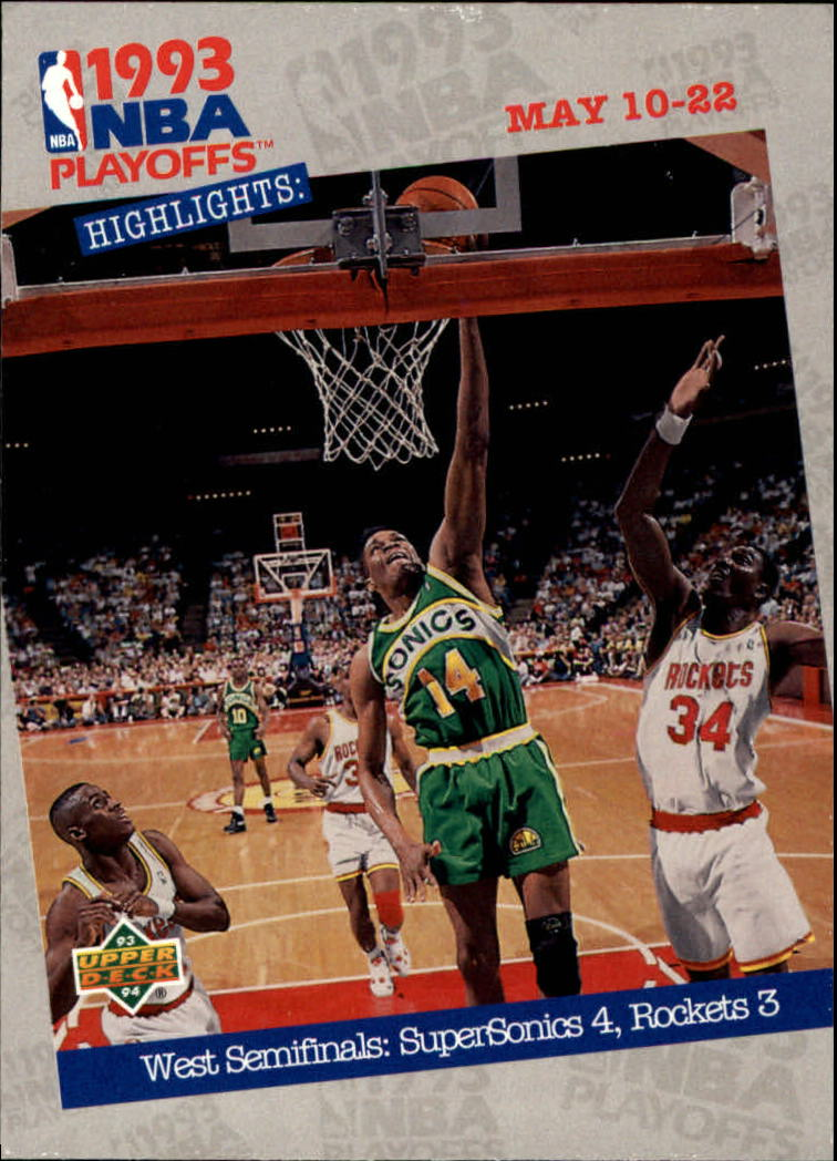 1993-94 Upper Deck #189 West Semis: Sonics 4&