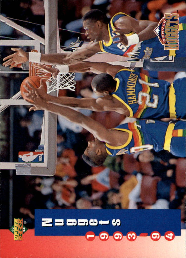 1993-94 Upper Deck #216 Denver Nuggets Sked