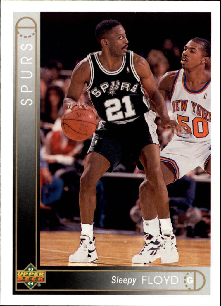 1993 94 Upper Deck San Antonio Spurs Basketball Card 302 Sleepy