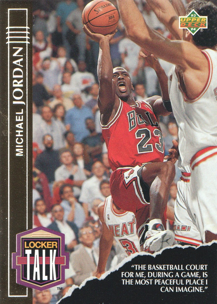 1993-94 Upper Deck Locker Talk #LT1 Michael Jordan