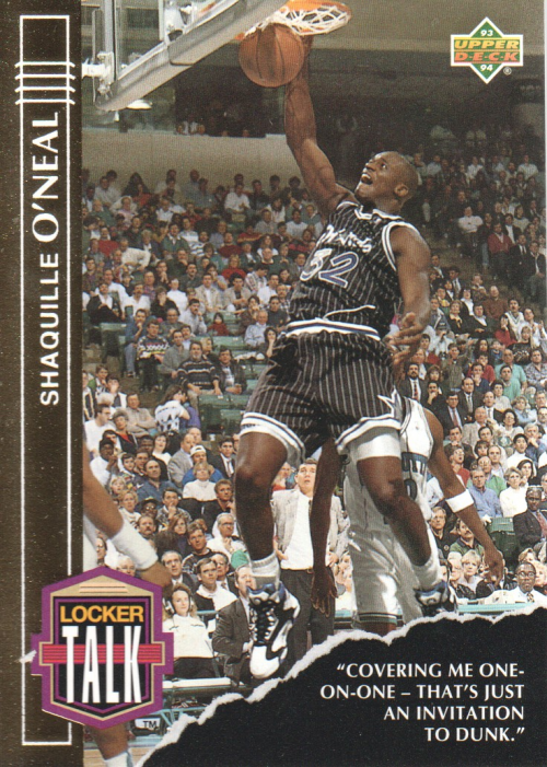 1993-94 Upper Deck Locker Talk #LT3 Shaquille O'Neal
