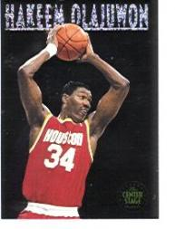1993-94 SkyBox Premium Center Stage #CS6 Hakeem Olajuwon