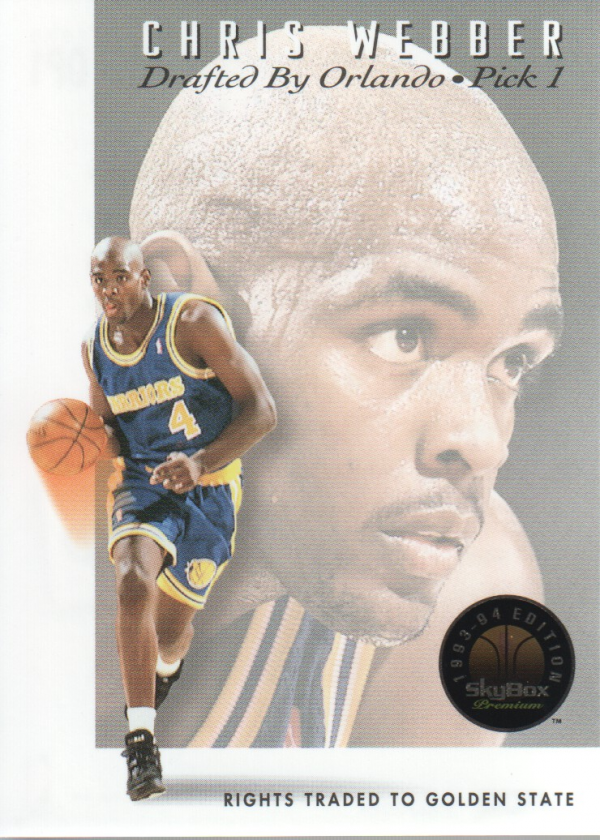 1993-94 SkyBox Premium Draft Picks #DP1 Chris Webber