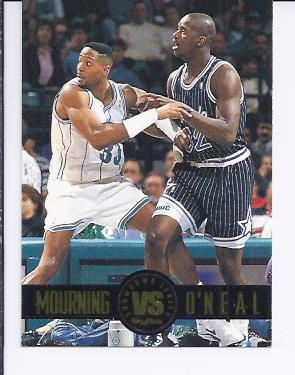 1993-94 SkyBox Premium Showdown Series #SS3 Alonzo Mourning/Shaquille O'Neal
