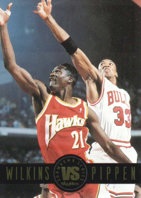 1993-94 SkyBox Premium Showdown Series #SS9 Dominique Wilkins/Scottie Pippen