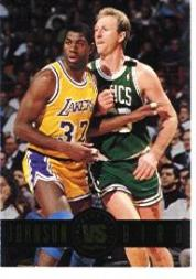 1993-94 SkyBox Premium Showdown Series #SS12 Magic Johnson/Larry Bird